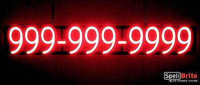 Spellbrite Ultra-bright 10 Digit Phone Number Sign Neon-led Sign Neon Look