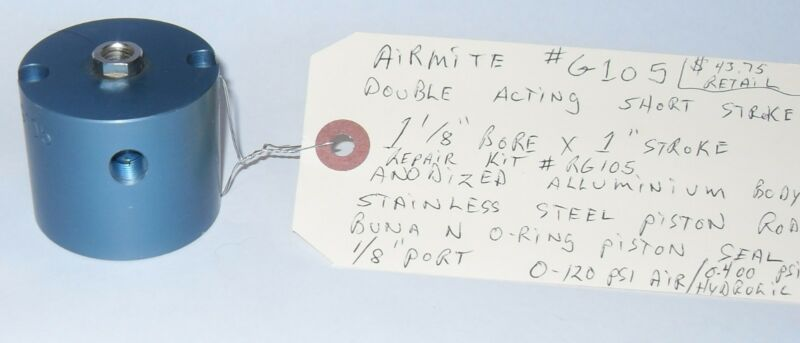 "Air Mite Chicago G-105 Cylinder 1"" X 1-1/8"" Double Acting Short Stroke"