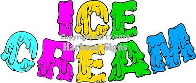 Choose Your Size Color Ice Cream Letters Decal Food Truck Concession Sticker