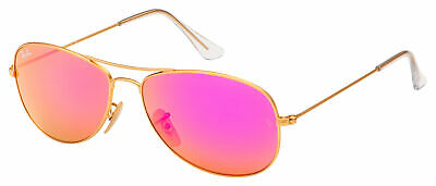 Ray-Ban Cockpit Sunglasses RB 3362 112/4T 56 Gold | Cyclamen Flash (Ray Ban Cockpit 3362)