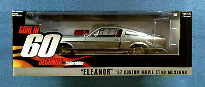 ELEANOR CUSTOM MOVIE 1967 MUSTANG 1:18 DIECAST GREENLIGHT HOLLYWOOD COLLECTIBLES