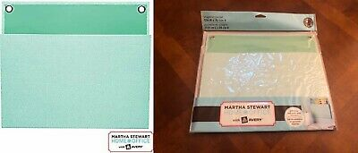 Martha Stewart Home Office Avery Large Shagreen Wall Pocket 12 X 10-14 Mint