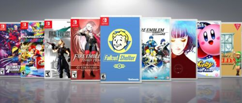 Custom Nintendo Switch Covers and Cases: Titles F-M. !! NO GAMES !!