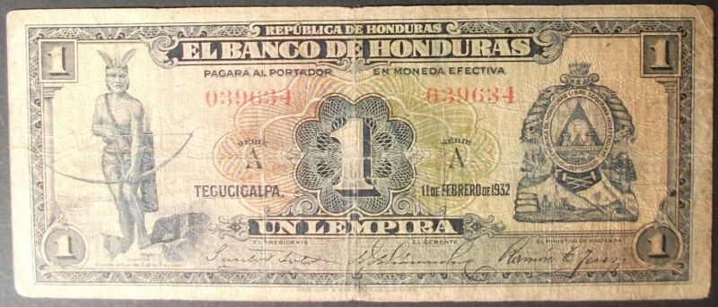 Honduras P34 Lempira VG