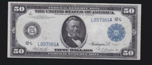 US 1914 $50 FRN San Francisco FR 1070 VF-XF (-984)