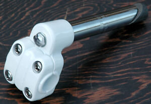 White-Alloy-7-8-22-2mm-Old-School-BMX-Bike-4-Bolt-Quill-Stem-Cruiser-Bicycle