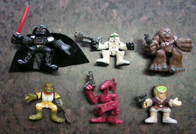 6 x GALACTIC HEROES FIGURES LOT - Star Wars - BOSSK CHEWBACCA HAN VADER TROOPERS