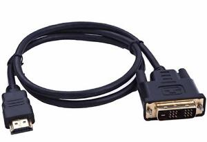 DVI Male to HDMI Adapter Golden-Plated Converter Support upto 1080P