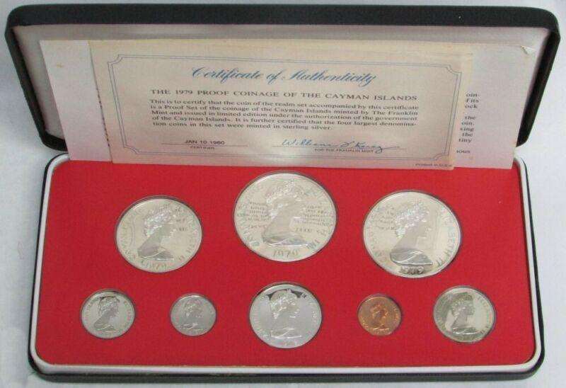 1979 CAYMAN ISLANDS 8 COIN PROOF SET FRANKLIN MINT