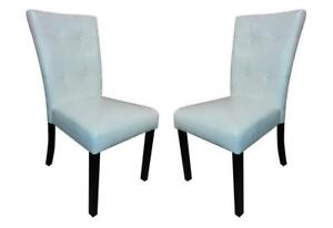 NEW Leatherette Dining Room Chairs (Set of 2) Solid Wooden Legs Comfy Backrest Padded