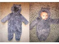 Mothercare Bear Snowsuit