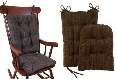 The Gripper Non-Slip Polar Jumbo Rocking Chair Cushions, Chocolate