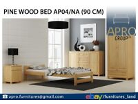 Pine Wood Bed Frame 90x190 3FT Single Size