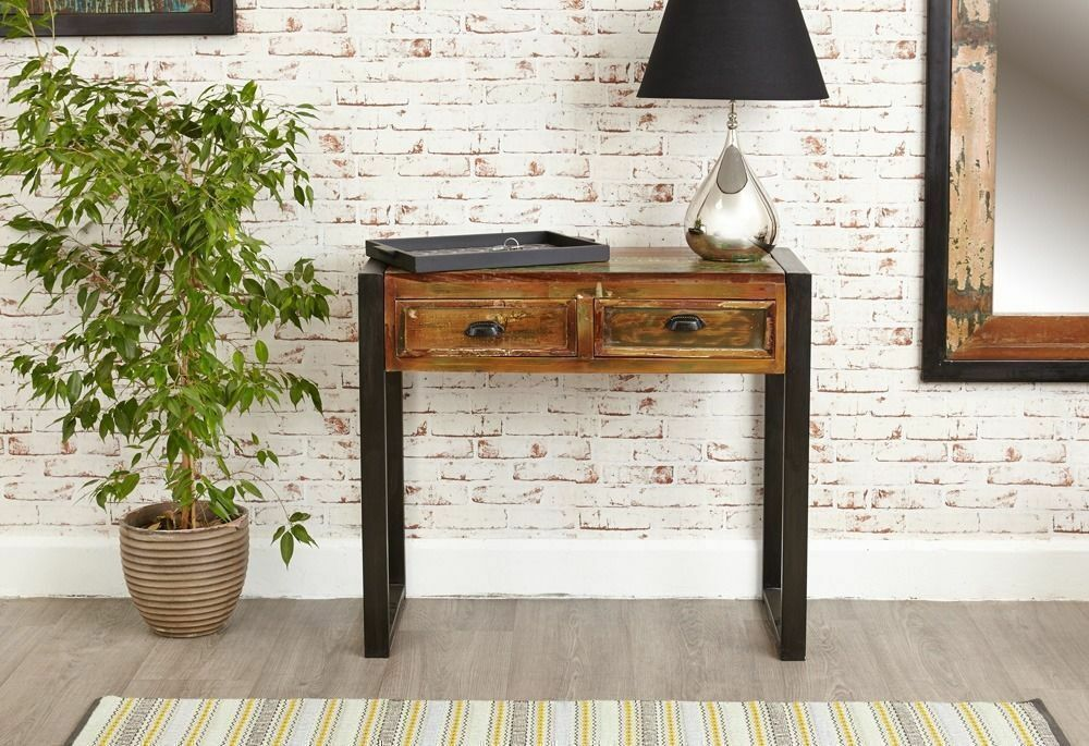 Java Rustic Industrial Console Tablein Clapham, LondonGumtree - Price includes free delivery. See more by searching Rustic Industrial Furniture. Forming part of the Java range, the colours in the pieces are the result of blending the timbers together. The table would be a great fit for a hallway, but could also...