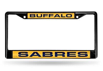 Buffalo Sabres NHL Black Metal Laser Cut License Plate Frame