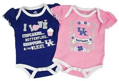 Kentucky Wildcats Baby Girl Creeper 2 Piece Set Romper UK Logo](Kentucky Wildcats Logo)