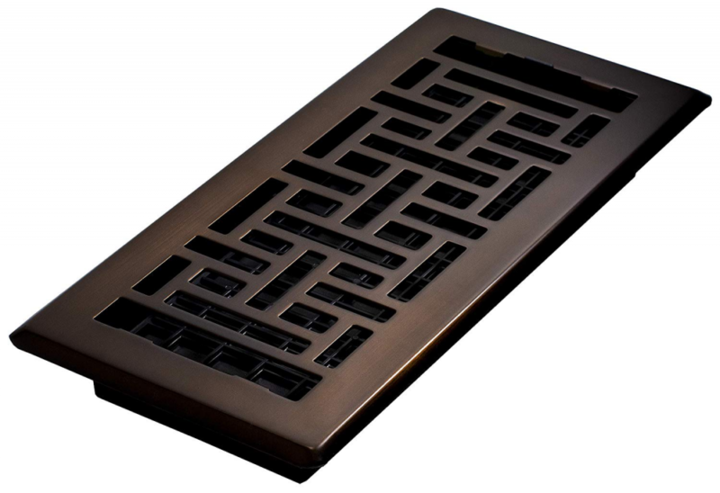 3-Inch by 10-Inch Rubbed Bronze Decor Grates SPH310-RB Scroll Plated Register
