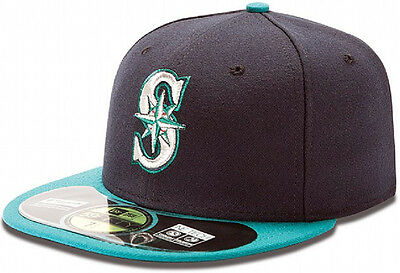New Era MLB Seattle Mariners Cap 59fifty  On Field Fitted Basecap Cap Herren Men