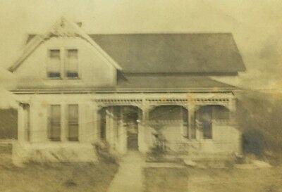 Vintage RPPC Postcard Solitary House with Porch A Azo Azoa AAzoa