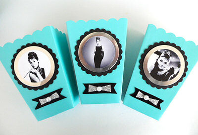 Tiffany Themed Party (Audrey Hepburn/ breakfast at Tiffanys theme/ party favors SET OF)