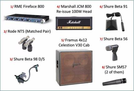 Marshall Amp + RME Audio Interface + Shure Mics, make an offer!! Chatswood Willoughby Area Preview