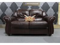 Stunning Barker & Stonehouse Violino Italian Brown Leather 2 Seater Sofa - UK Delivery