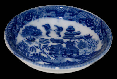Japan Blue Willow Child's Flat Soup