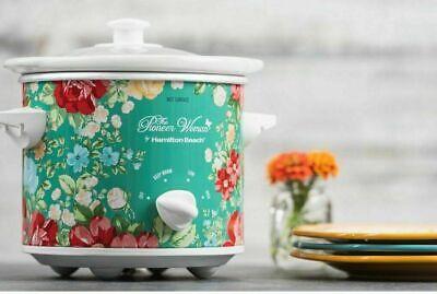 Pioneer Woman 1.5 Qt Vintage Floral Slow Cooker Crock Pot 33016 Hamilton Beach