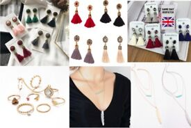 !!! Earrings , Necklace and Rings Set Gift Present !!!