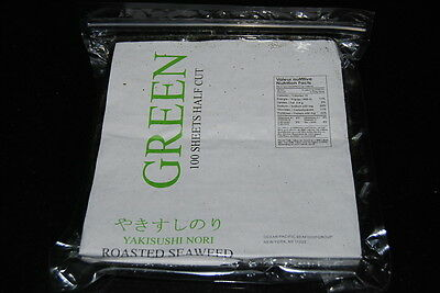 New 100 sheet Yaki Sushi Nori Roasted Seaweed Free Shipping