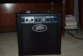 Peavey Max 126 Bass Combo Guitar Amplifier 25W Amp + 1/4in cable Transtube MX126 Pvmx126