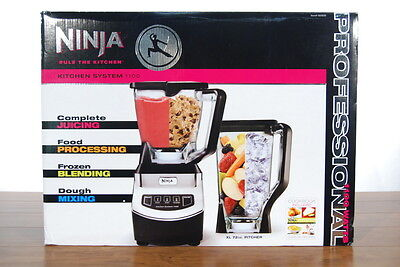 Ninja Kitchen System 1100 WT NJ602 CO Juicer Processer Blender Dough Mixer