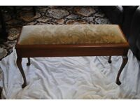 PIANO BENCH: £125. Length: 93.5 cm Depth: 34.5 cm and Height: 51 cm.