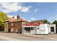 SHOP FOR RENT. HIGH STREET LOCATION. AVAILABLE IMMEDIATELY. WEST MOLESEY, SURREY.