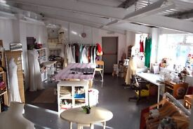 Communal desk/ textiles/artist/ workshop spaces in creative studios - Kingsdown -AVAILABLE NOW