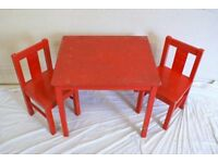 IKEA Kritter childs table and 2 chairs