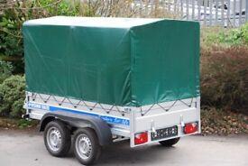 Car trailer 8x4 750kg twin axle leaf spring suspension