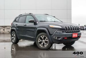2016 Jeep Cherokee Trailhawk*LOADED*HEATED LEATHER*