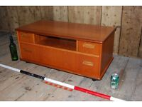 G Plan Fresco TV video stand drawers Mid century modern Danish teak Brighton vintage gplanera