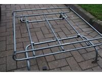classic car roof rack, 1960's style fits to roof gutter, plastic shoe/clamp details included.