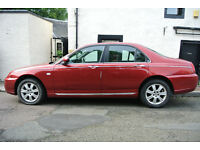 Rover 75 Connoisseur Saloon. Red with black leather. Good condition.Very low mileage, new gasket..