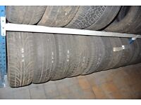 PART WORN TYRES FITTED