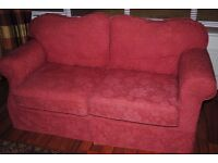 Two matching sofas.
