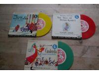 "HMV Junior Record Club 7"" coloured vinyl records"