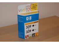 HP 339 Deskjet Printer Ink Cartridge Black - 2 Pack RRP £29.99