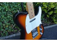 Fender Telecaster Sunburst Mexican - Upgraded pickup/wiring