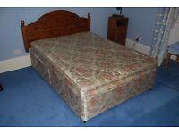 Double Divan Bed including mattress