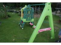 little tikes tykes slide swings and climbing frame