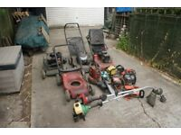 For spares or repair, lawnmowers and strimmers