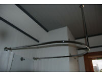 Traditional U shaped 30mm chrome shower curtain rail 750x 1240 approx.